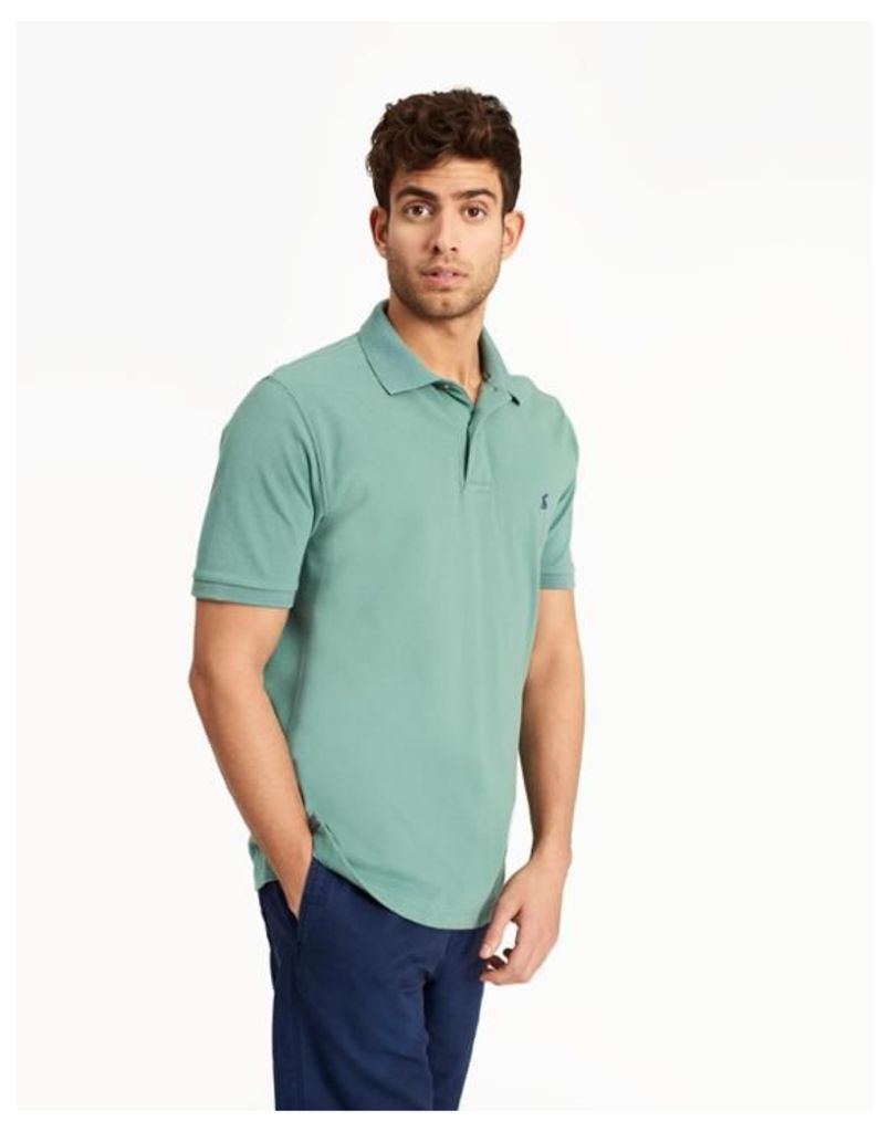 Sage Green Woody classic Classic Fit Polo Shirt  Size S | Joules UK