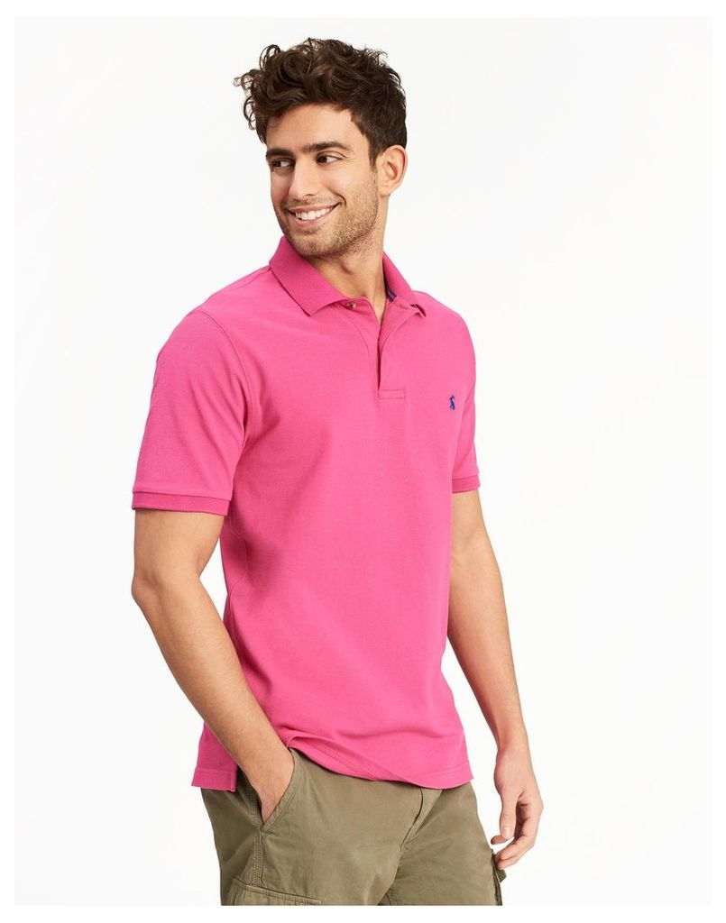 Summer Pink Woody slim Fit Polo Shirt  Size XXL | Joules UK