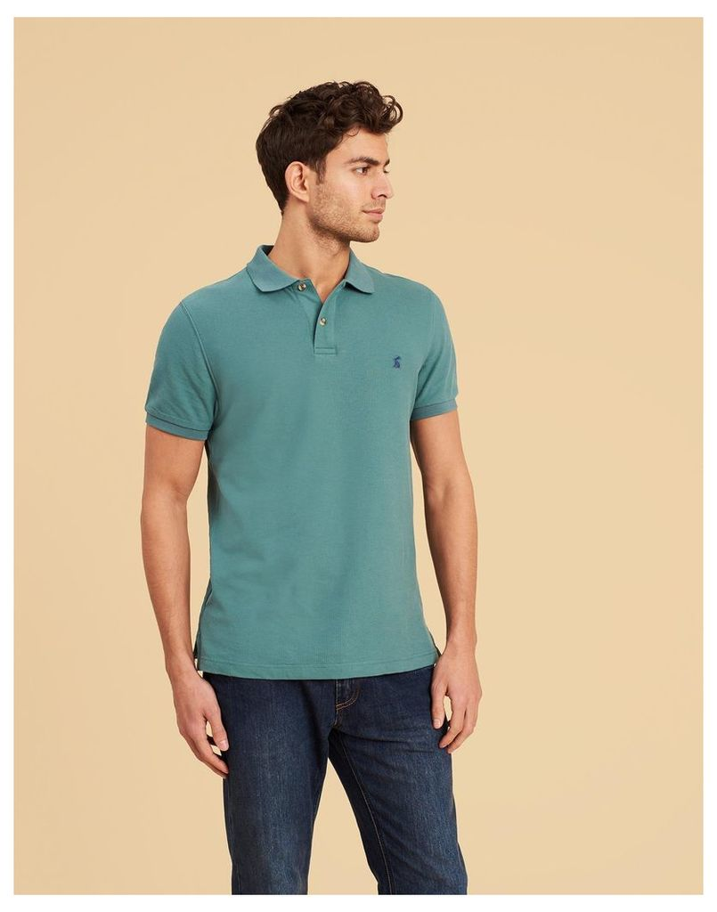 Sage Green Woody slim Fit Polo Shirt  Size XL | Joules UK