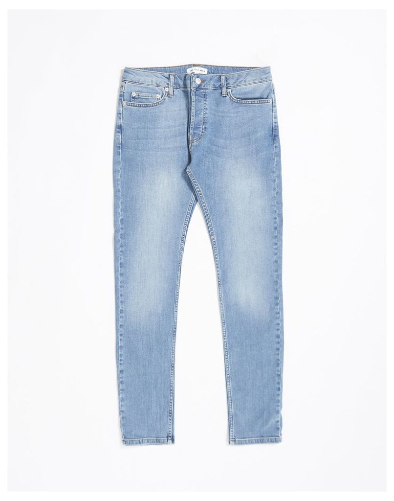 The Idle Man Stretch Skinny Fit Stonewash Jeans