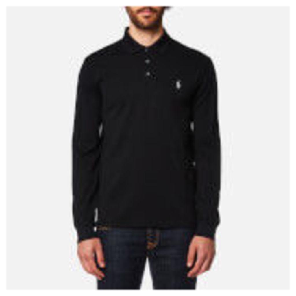 Polo Ralph Lauren Men's Long Sleeve Mesh Polo Shirt - Black - XL - Black