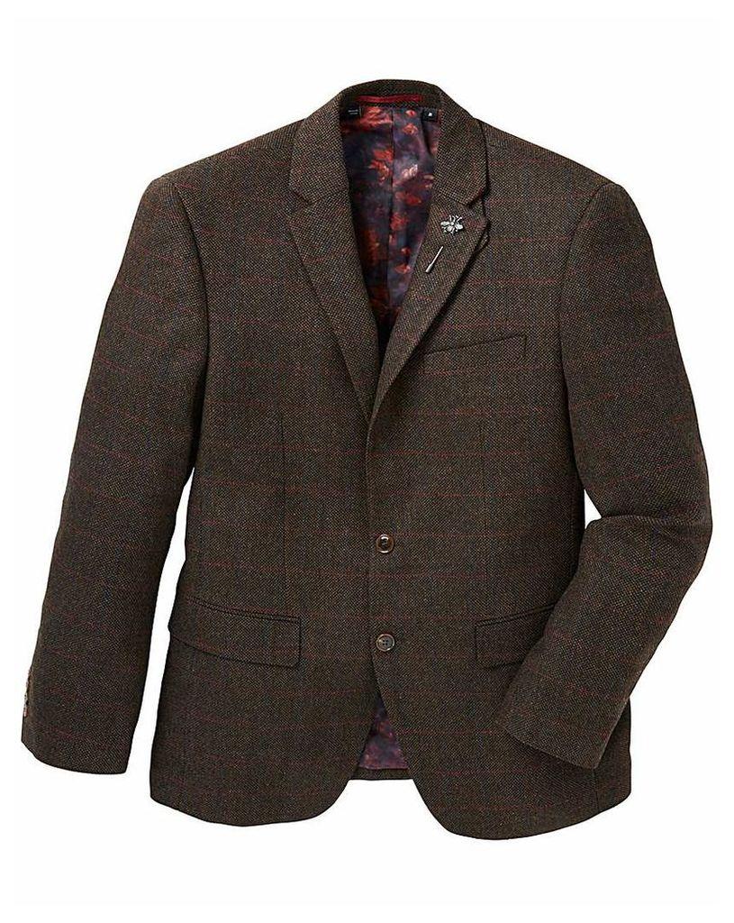 Black Label Checked Tweed Blazer Long