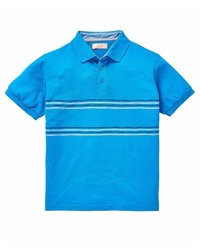 W&B Blue Polo Shirt L