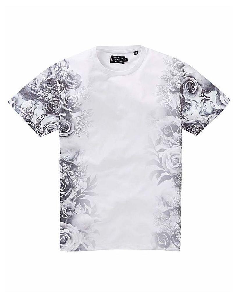Label J Side Floral T-Shirt Long