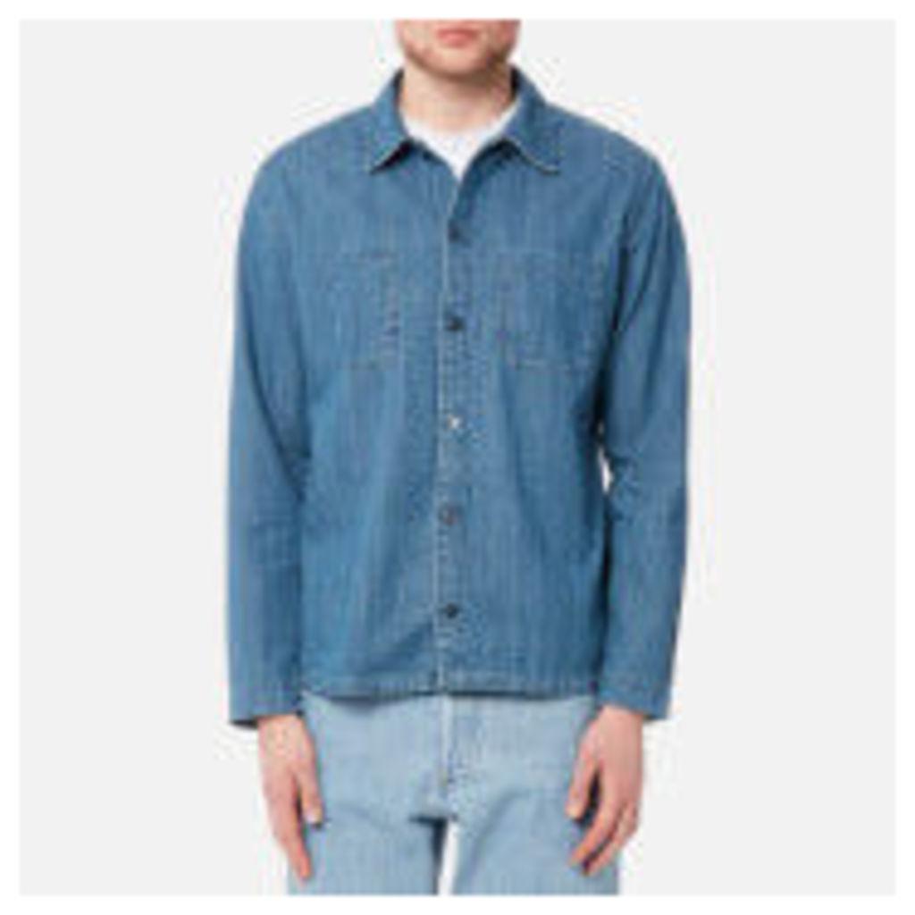 A.P.C. Men's Surchemise Disfarmer Shirt - Bleu - XL - Blue