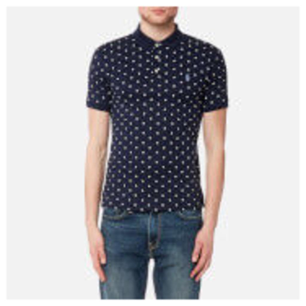 Polo Ralph Lauren Men's Short Sleeve Pima Polo Shirt - Navy Dot