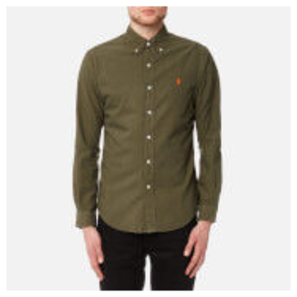 Polo Ralph Lauren Men's Slim Fit Garment Dye Shirt - Olive