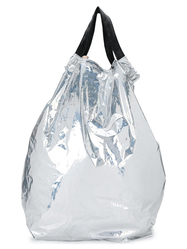 Maison Margiela contrast top-drawstring backpack - Metallic