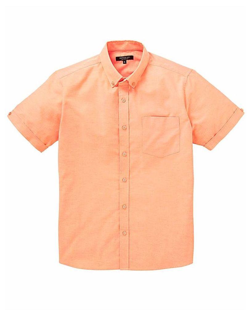 Capsule Peach S/S Oxford Shirt L