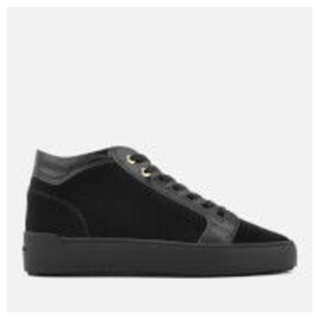 Android Homme Men's Propulsion Mid Suede/Patent Trainers - Navy - UK 11 - Navy