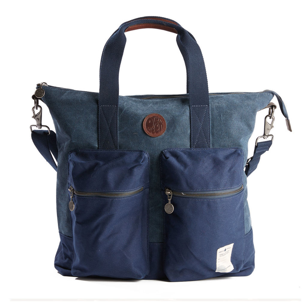 Pretty Green Men's Canvas Tote Bag - Navy - One Size