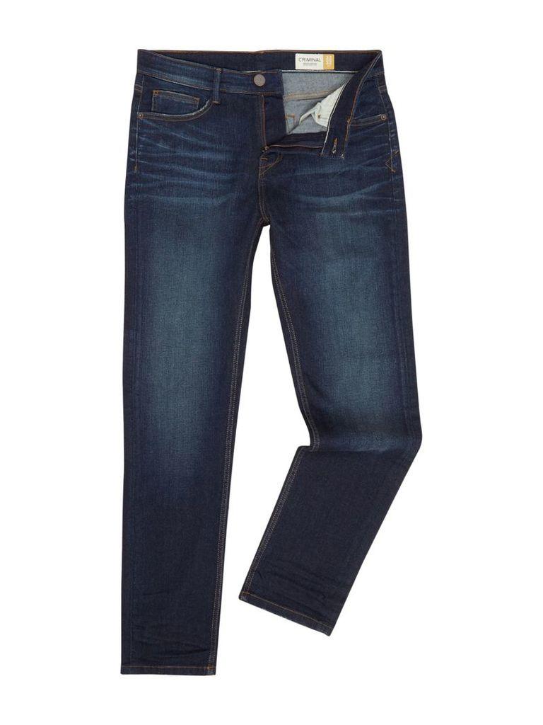 Men's Criminal Slater Slim Fit Blue Jean, Blue