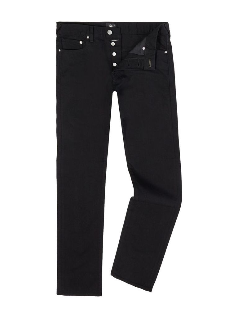 Men's PS By Paul Smith Stretch Regular Fit Black Jeans, Black