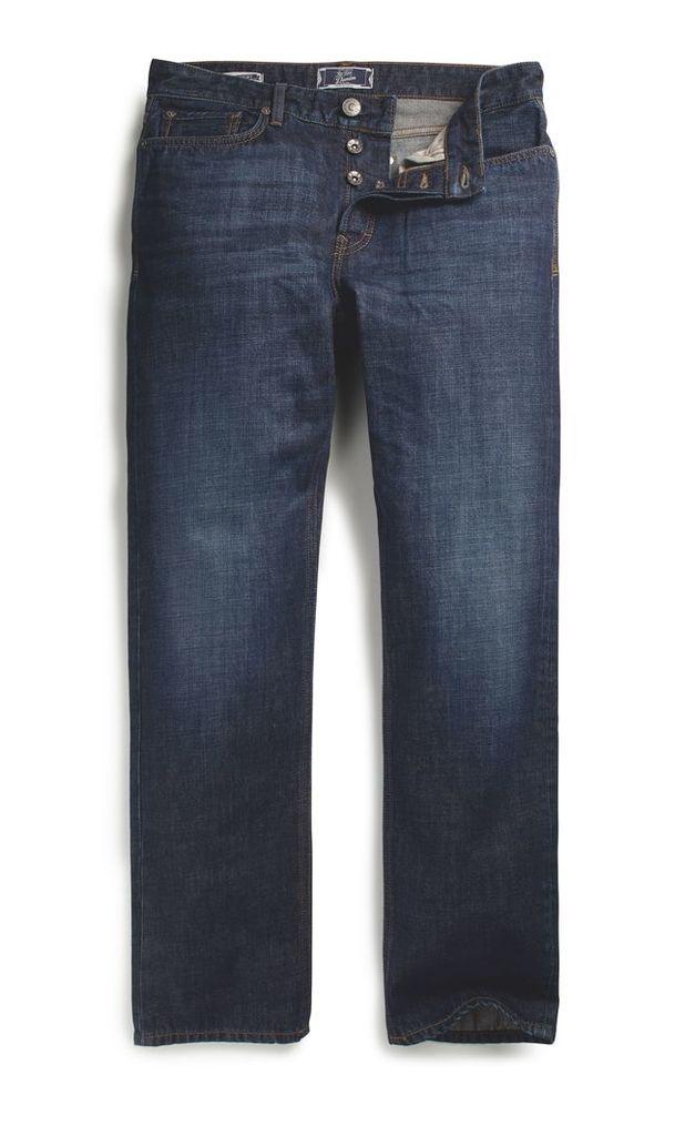 Men's Fat Face Raw Rinse Straight Jeans, Denim
