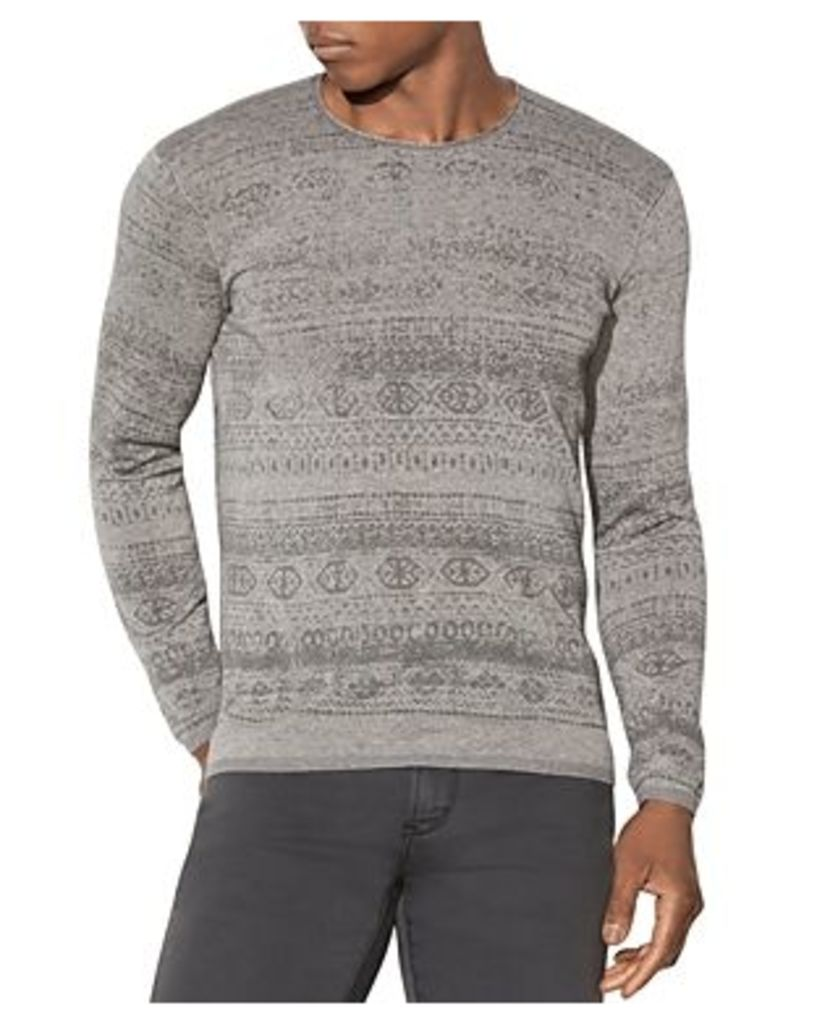 John Varvatos Star Usa Fair Isle Crewneck Sweater