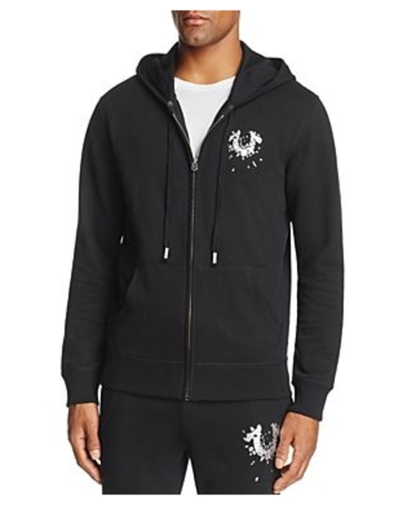 True Religion Shattered Horseshoe Zip Hooded Sweatshirt