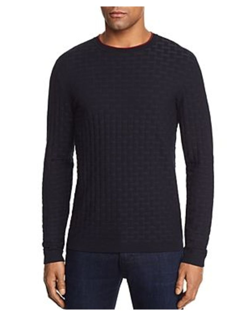 Emporio Armani Large Woven Texture Knit Sweater