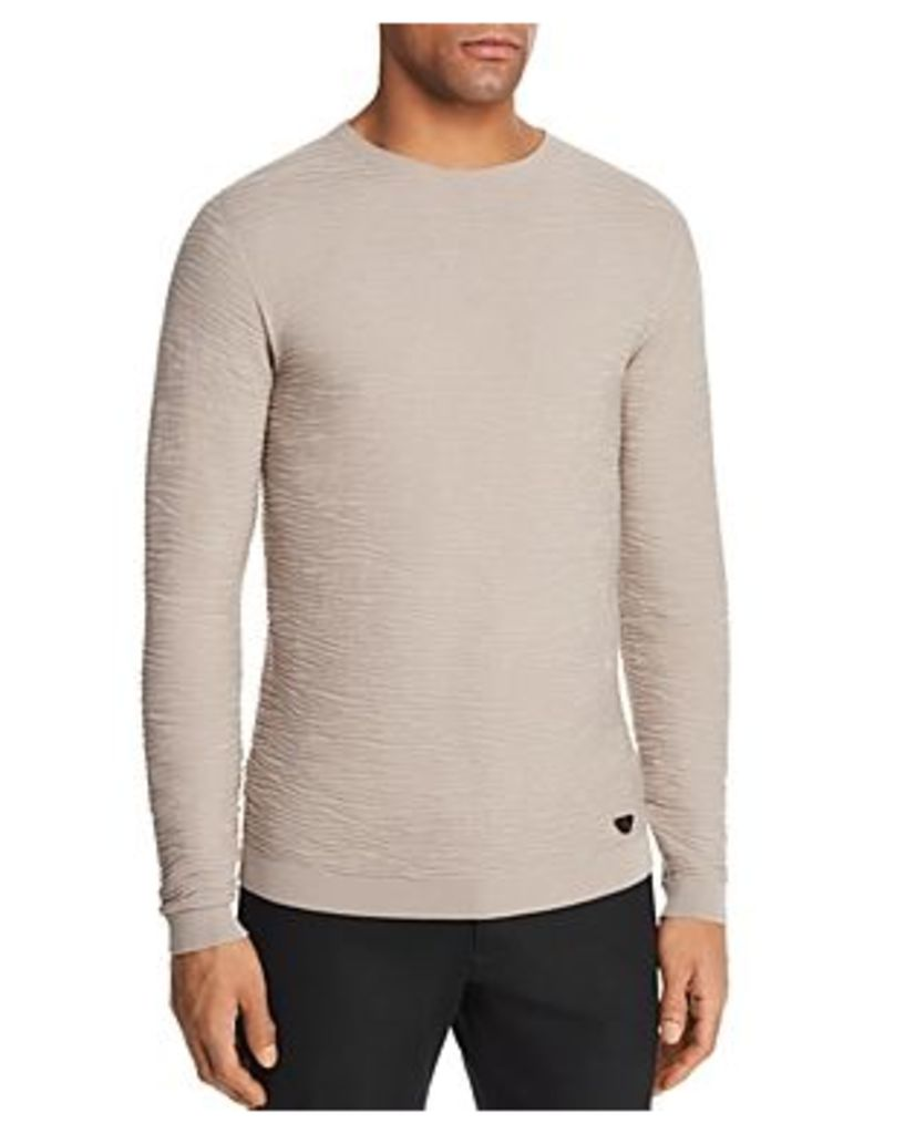 Emporio Armani Solid Textured Knit Sweater