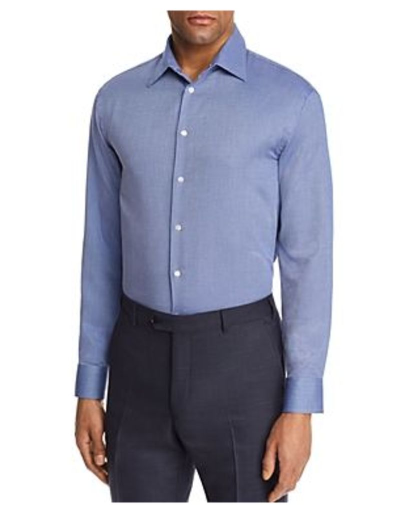 Emporio Armani Tonal Cross Stitch Regular Fit Button-Down Shirt