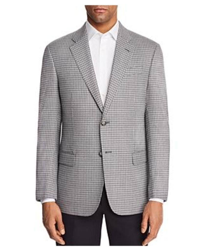 Emporio Armani Check Stitch Regular Fit Sport Coat