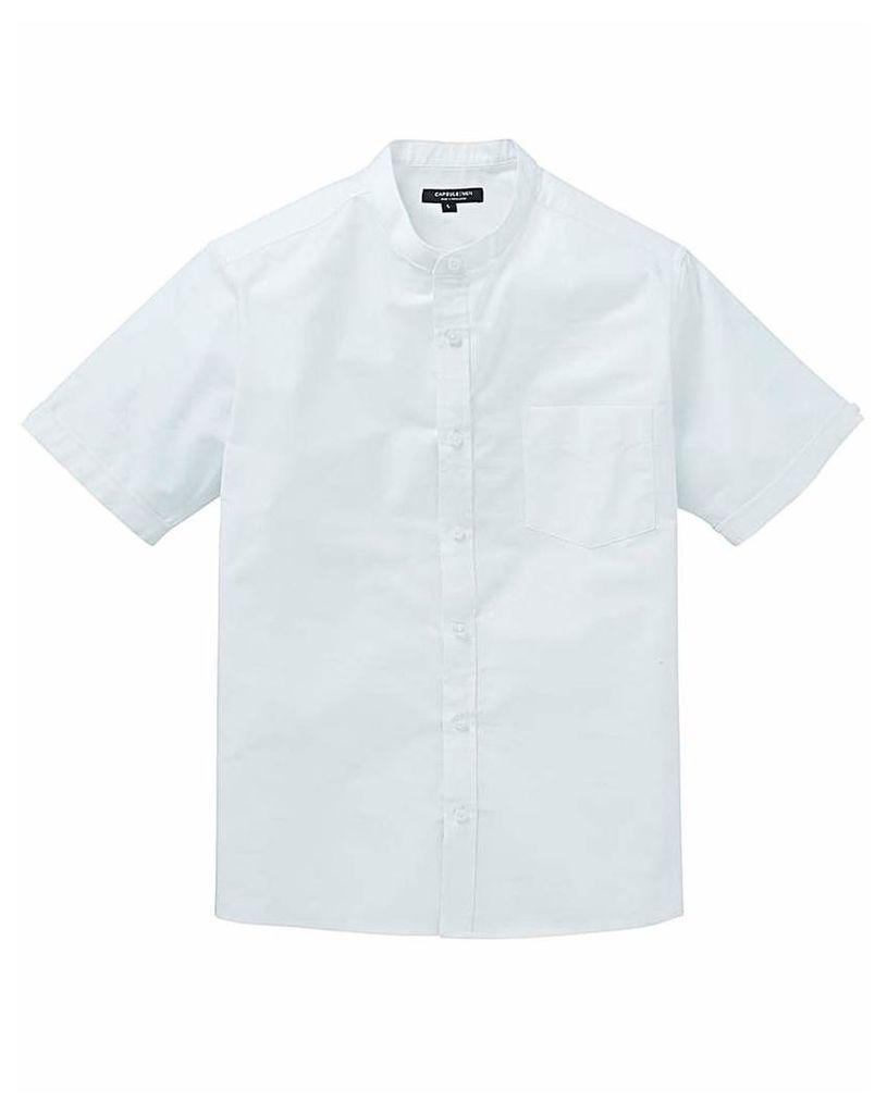 Capsule White S/S Grandad Oxford Shirt R