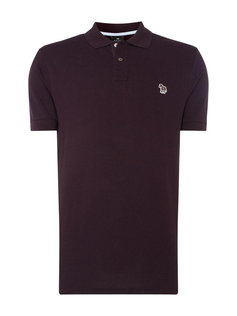 Men's PS By Paul Smith Zebra Logo Polo Shirt, Aubergine