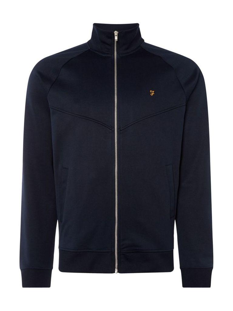 Men's Farah Lancaster Zip Through Sweatshirt, Blue