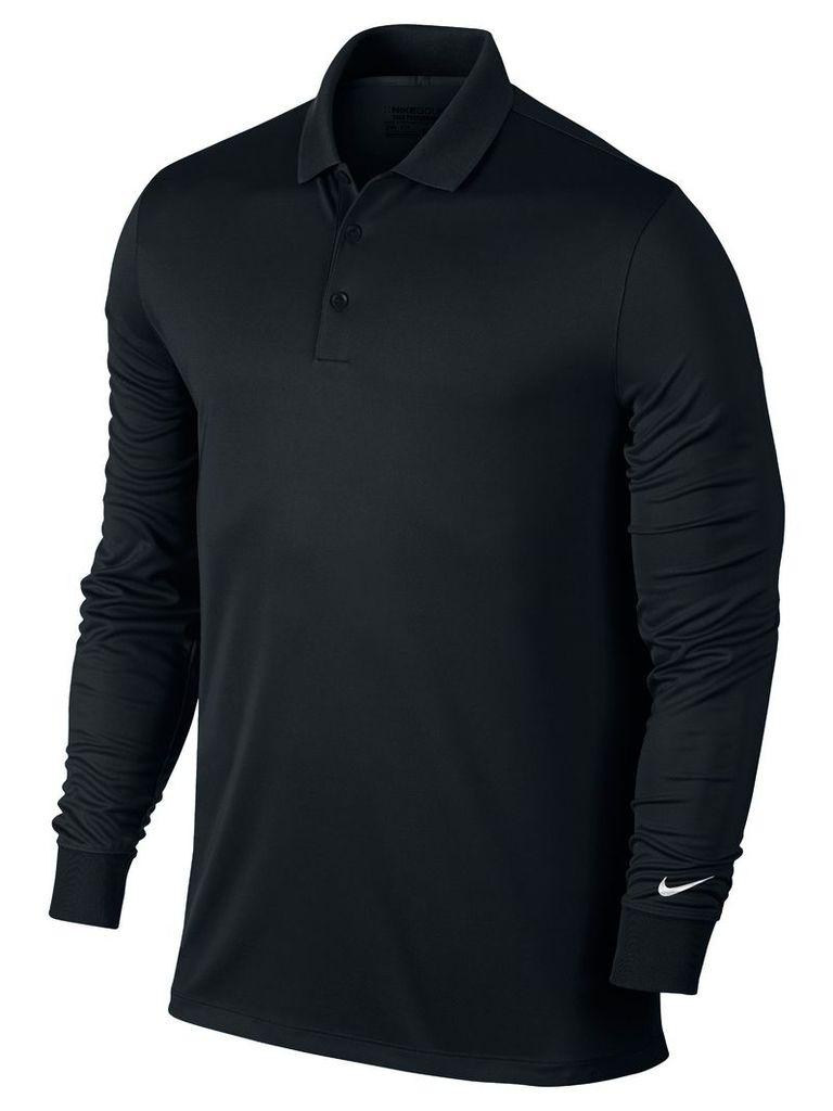Men's Nike Golf Victory Long Sleeve Polo, Black