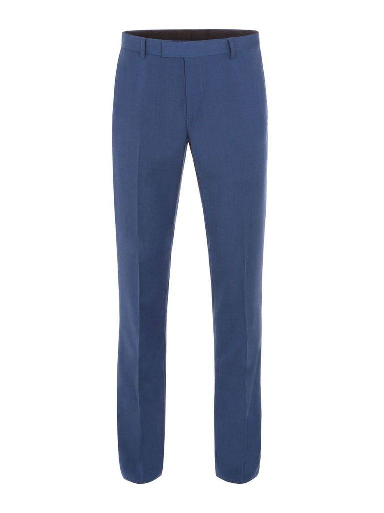 Men's Aston & Gunn Lostock Blue Suit Trousers, Blue