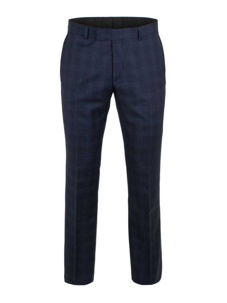 Men's Alexandre of England Walbrook Navy Check Trouser, Blue