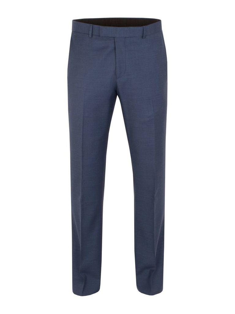 Men's Aston & Gunn Oxenhope sharkskin tailored trouser, Blue
