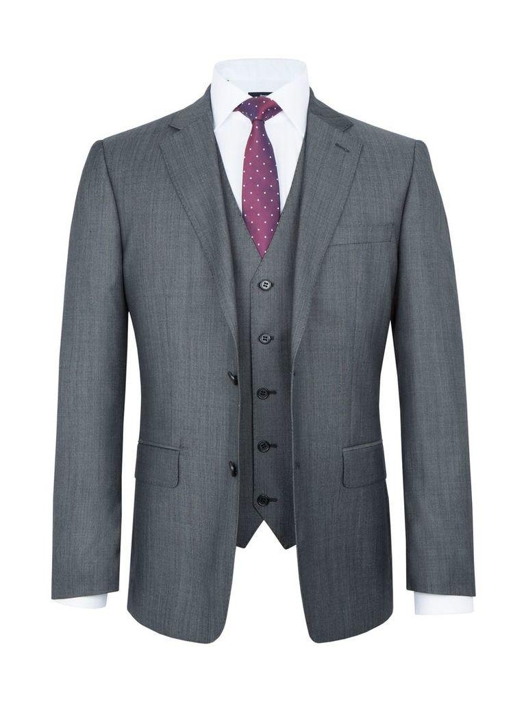 Men's Paul Costelloe Walcot Wool-Rich Three Piece Suit, Grey