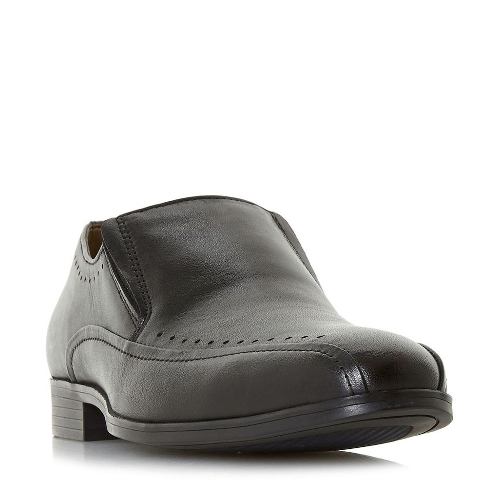 Howick Preaching Punched Tramline Loafer Shoes, Black