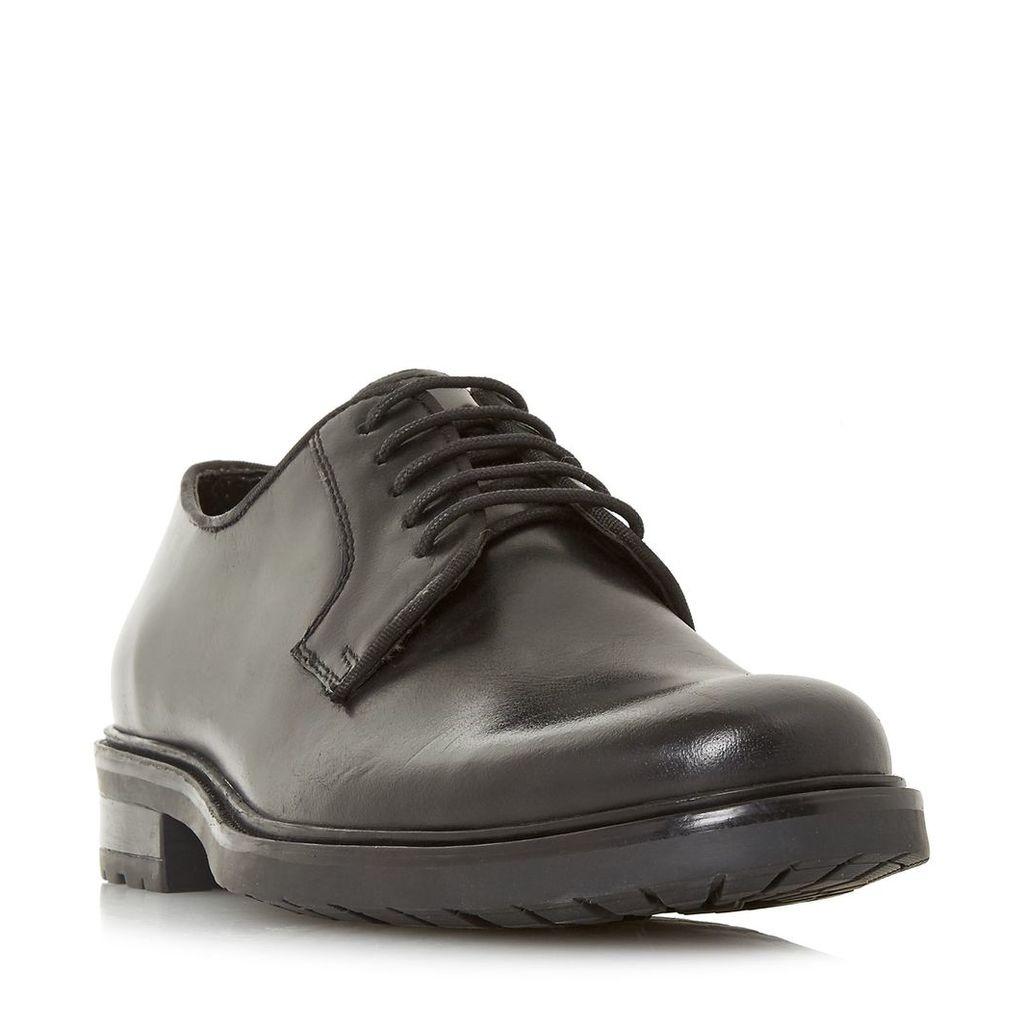 Linea Brass Heavy Sole Derby Shoes, Black