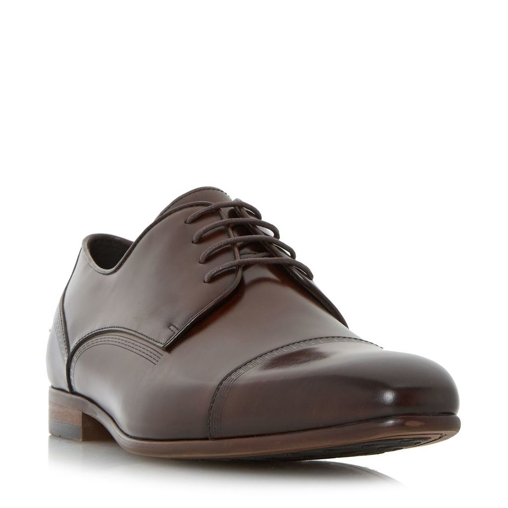 Dune Pierre toecap detail gibson shoe, Brown