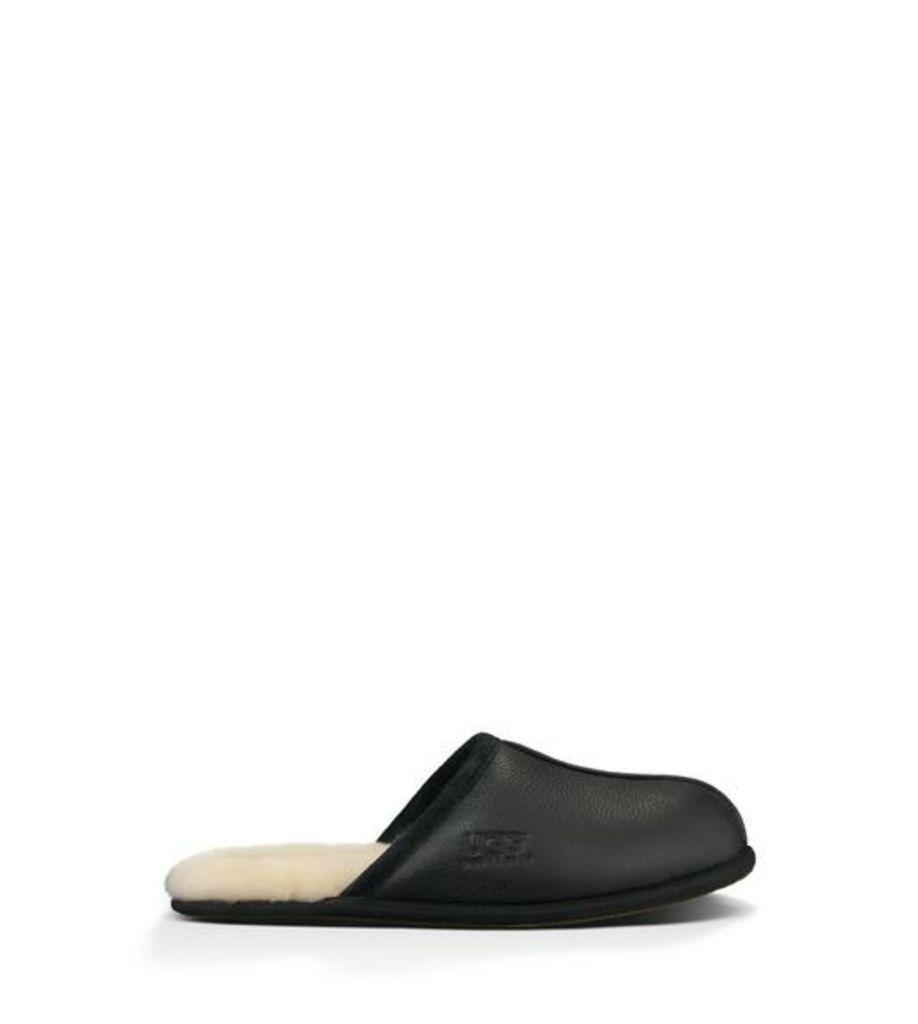 UGG Scuff Leather Slipper Mens Slippers Black 9