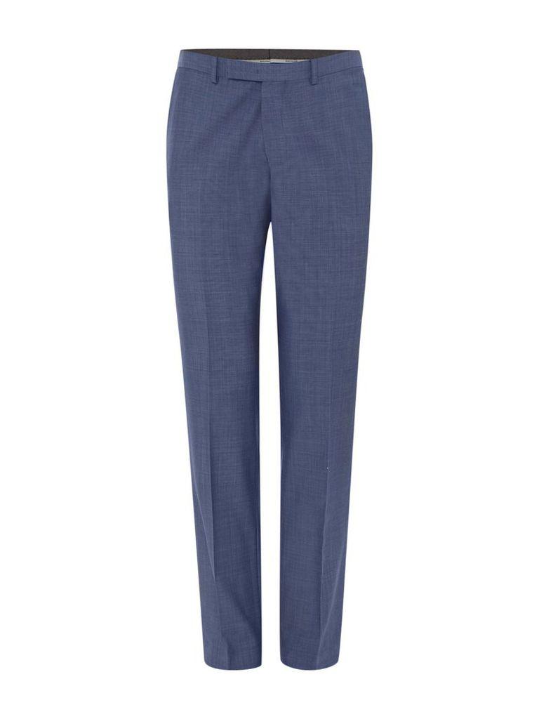Men's Baumler Slim fit light blue suit trousers, Blue
