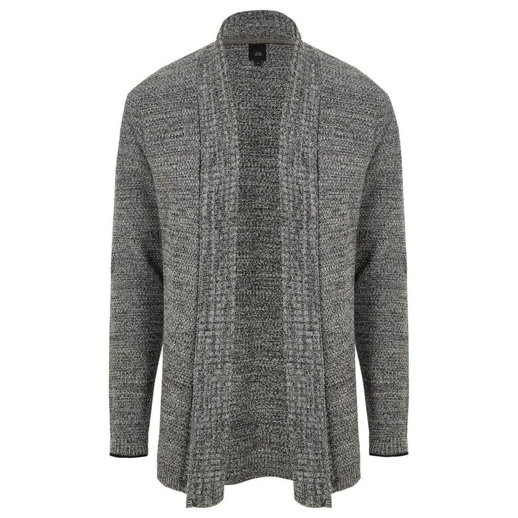 River Island Mens Grey shawl collar cardigan