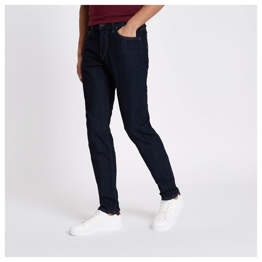 River Island Mens Dark Blue Lee slim fit jeans