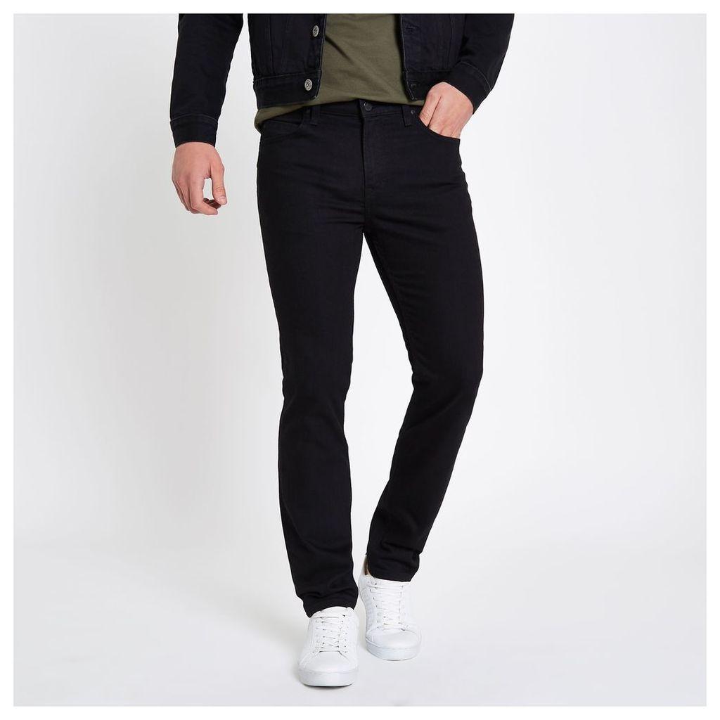 River Island Mens Black Lee slim fit Rider jeans