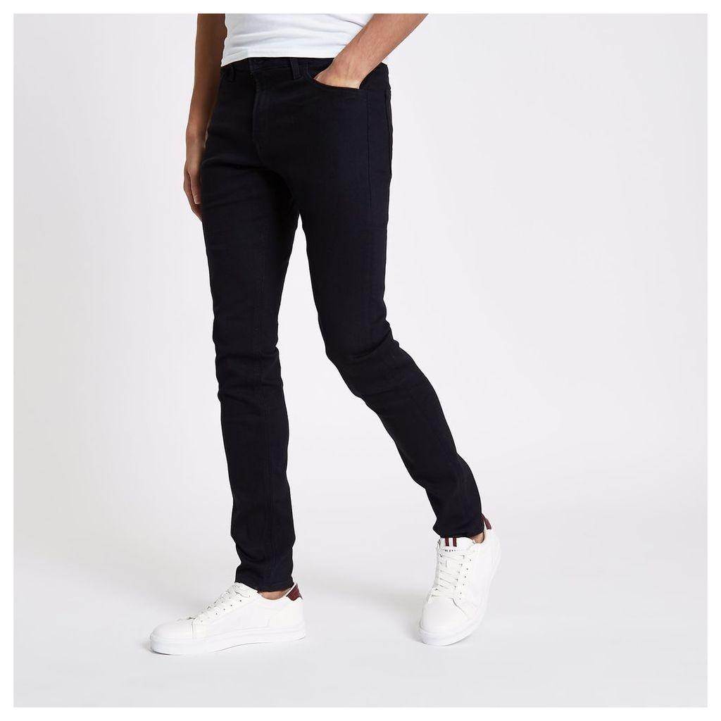 River Island Mens Black Lee skinny fit jeans