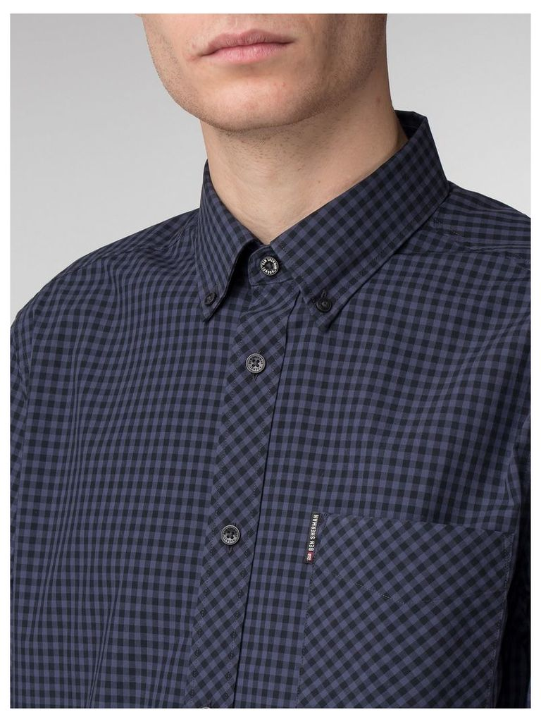 Long Sleeve Core Gingham Shirt XXL Phantom