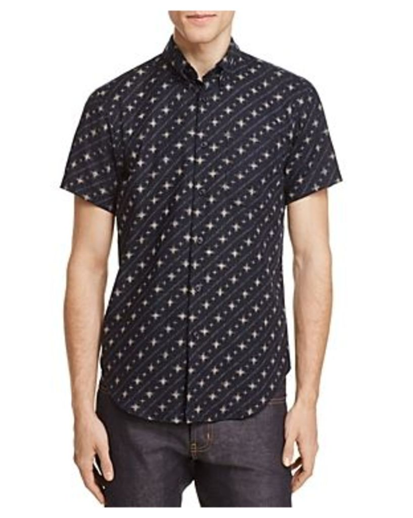 Naked & Famous Diagonal Stripe Regular Fit Button-Down Shirt