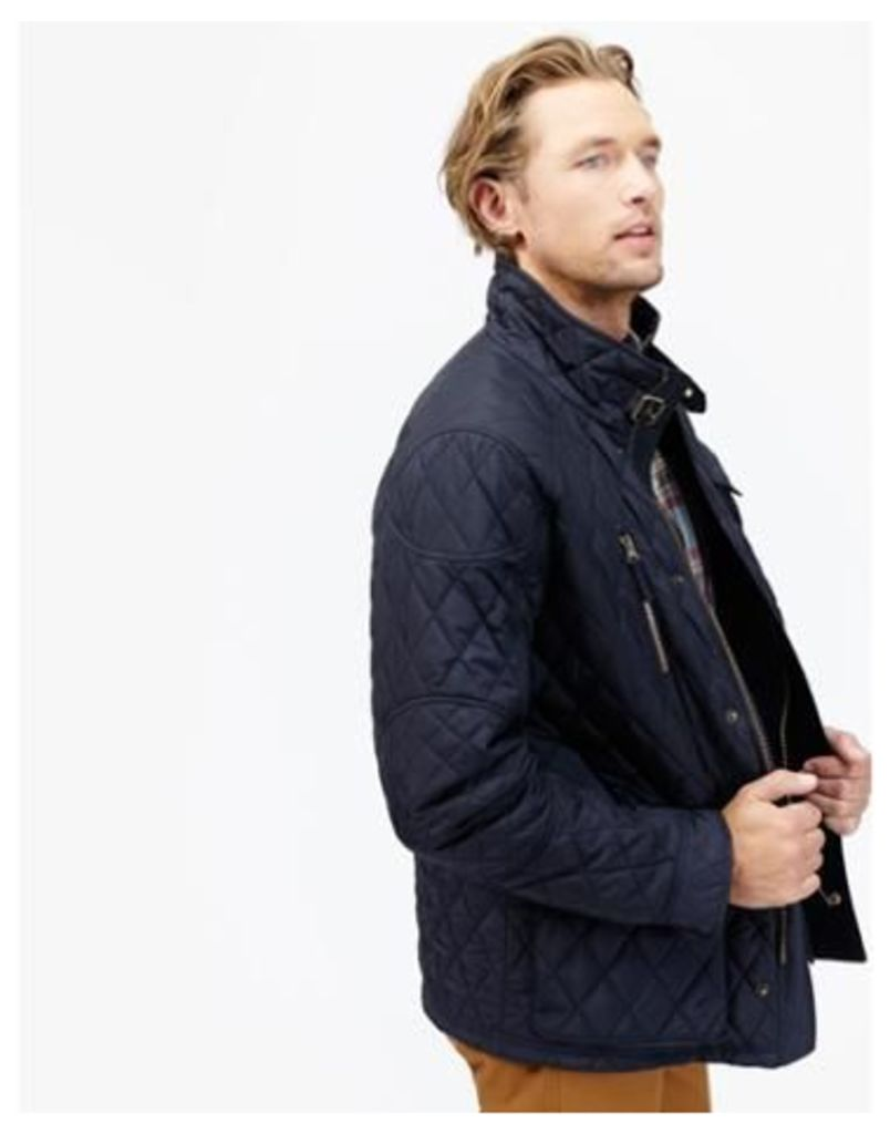Marine Navy Stafford Quilted Jacket  Size XL | Joules UK