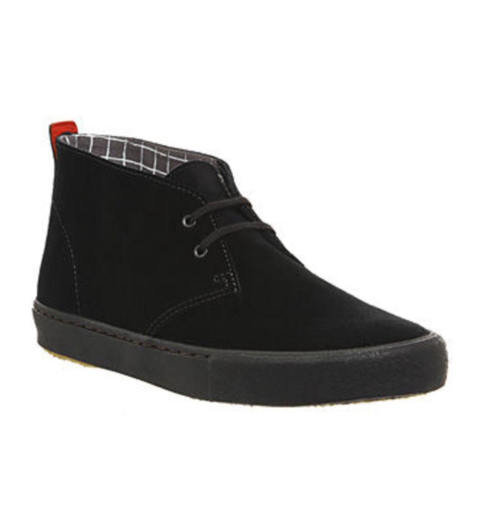 Clarks Originals Desert Vulc Sneaker BLACK SUEDE,Black