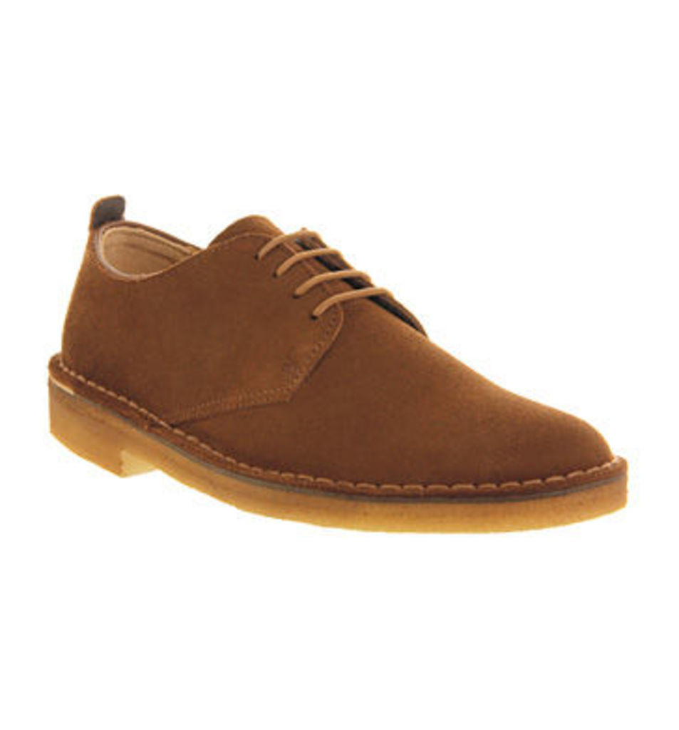 Clarks Originals Desert London Shoes COLA SUEDE,Black,Brown