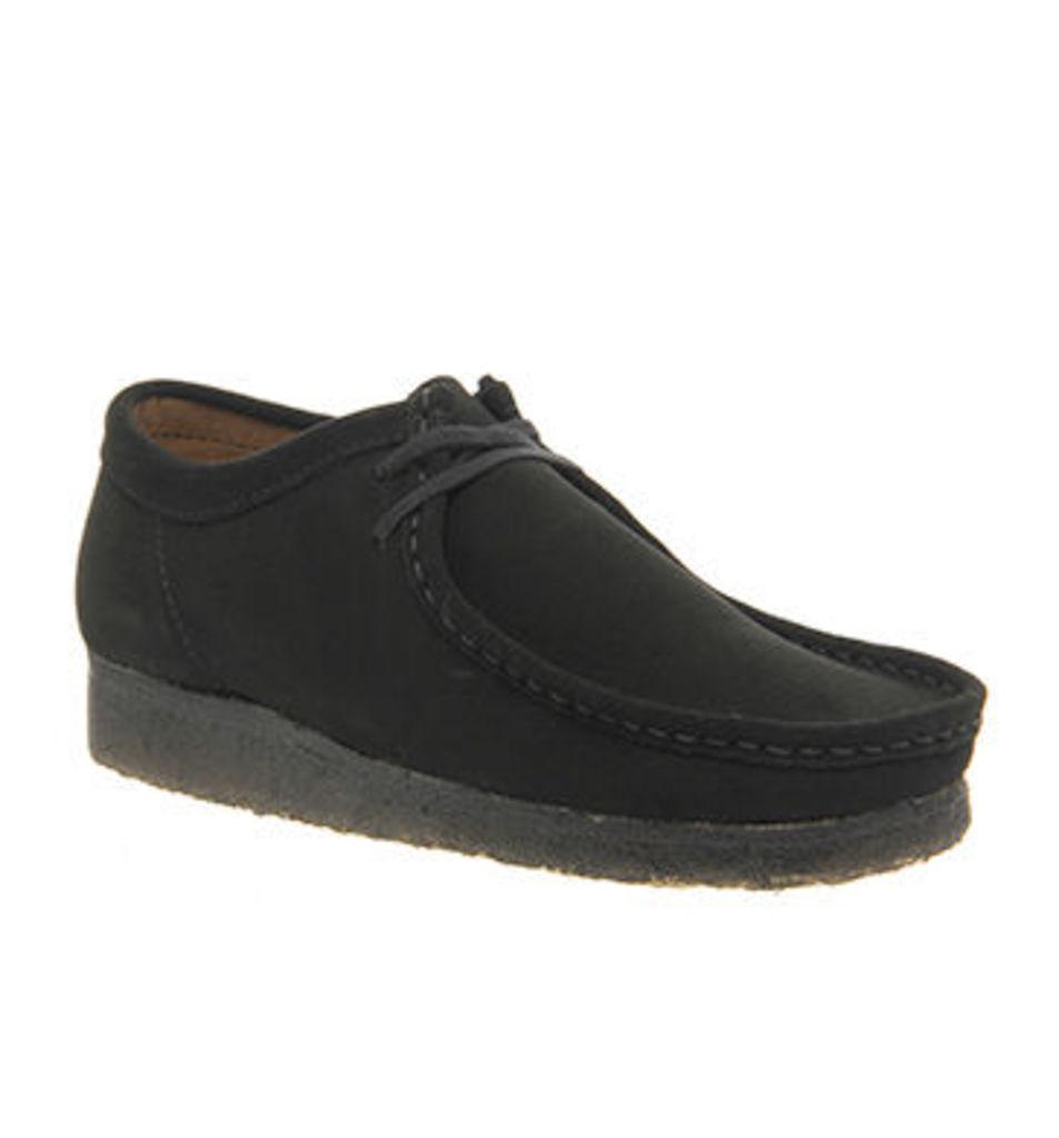 Clarks Originals Wallabee Shoes BLACK SUEDE,Black,Brown,Black / White