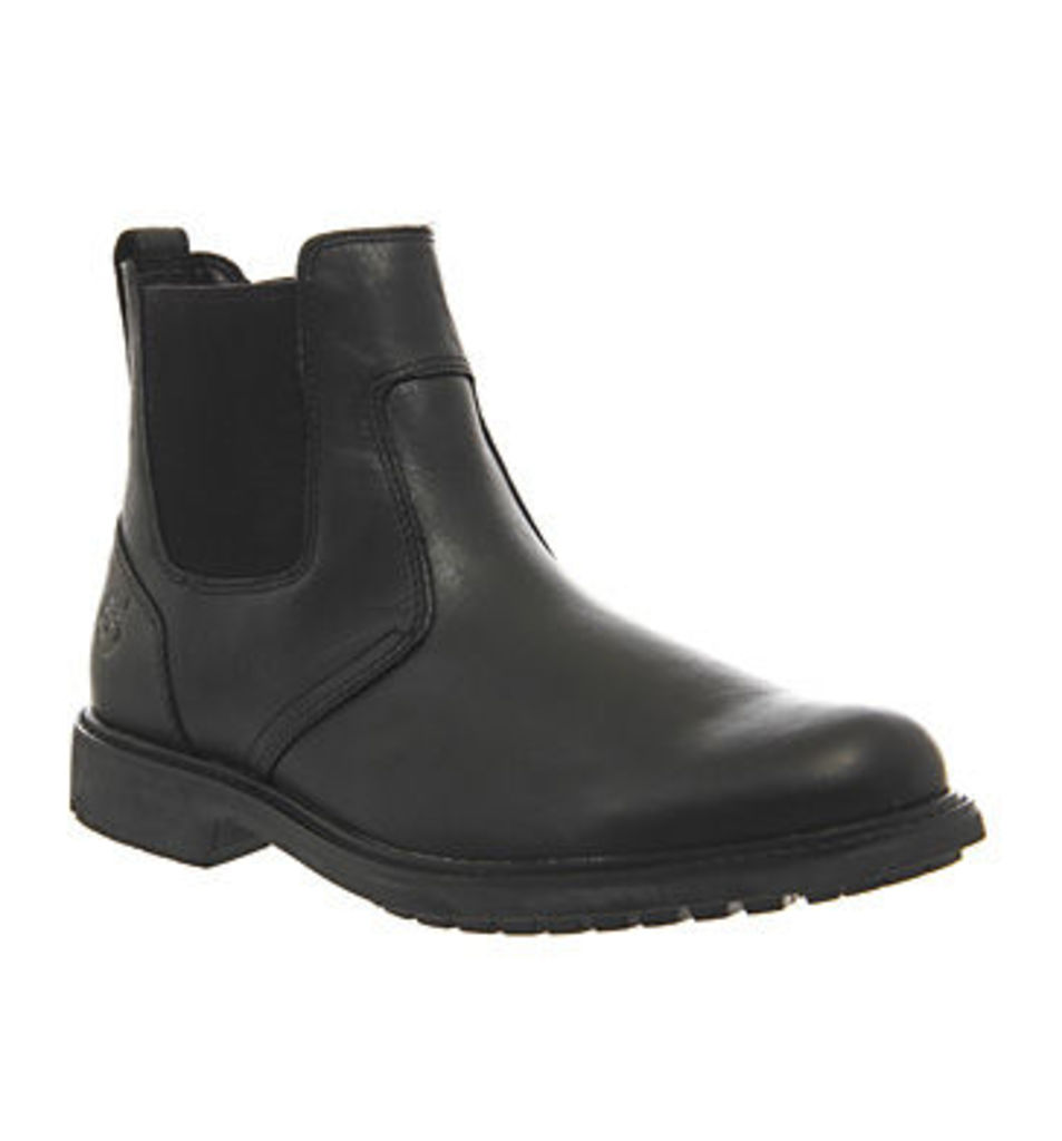 Timberland Stormbuck Chelsea BLACK SMOOTH LEATHER,Brown,Black