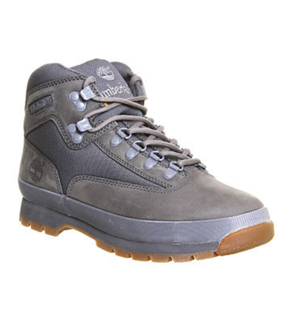 Timberland Euro Hiker Boots GREY LEATHER,Grey