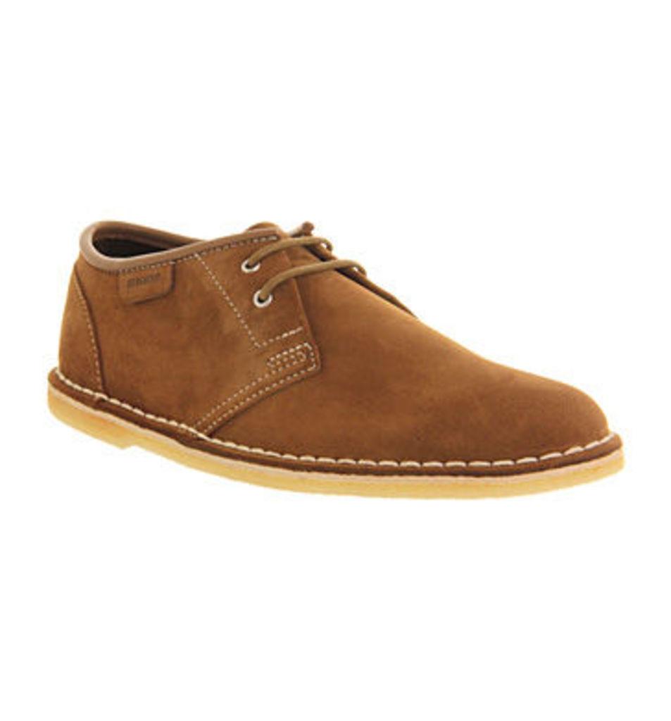 Clarks Originals Jink Lace Shoe COLA SUEDE,Brown
